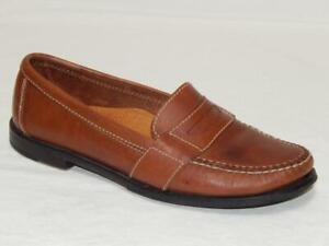 """COLE HAAN Men's """"Douglas"""" Style# 01462 Brown Leather Penny Loafers Size 9.5 M"""