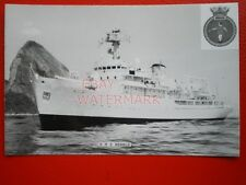 PHOTO  HMS HERALD (H138) WAS A HECLA-CLASS OCEAN SURVEY SHIP THAT SERVED WITH TH