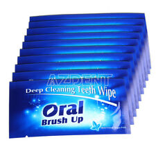 Dental Finger Teeth Wipes Brush Ups Oral Clean Post Whitening Deep Cleaning UK