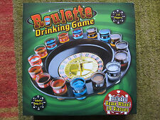 Roulette Wheel Adults Only 21+ Drinking Game W 16 Glasses