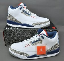 NIKE AIR JORDAN 3 III RETRO OG 854262-106 TRUE BLUE WHITE FIRE RED SIZE: 8
