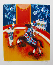 FREDERIC MENGUY Hand Signed Limited Edition Lithograph EQUITATION Circus Art