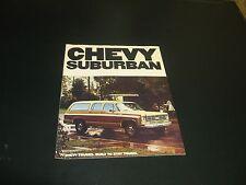 1977 Chevy Suburban Full Color sales brochure