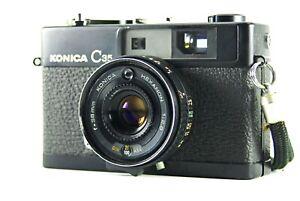 KONICA C35 Black model Compact Rangefinder Film Camera HEXANON 38mm f2.8 Lens