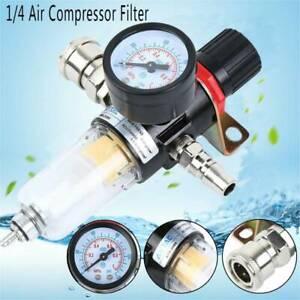 1/4''Air Compressor Filter Oil Water Separator Trap Filter with Regulator Gauge
