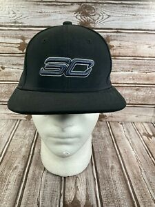 UNDER ARMOUR Boy's Snapback Flat Cap Hat SC30 Core Stephen Curry Black Youth OSF