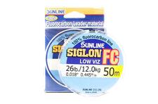 Sunligne Siglon FC Fluorocarbon Ligne 50m 26lb Diameter 0.445 mm (5921)