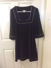 White House Black Market Women's Career Business Dress Black Long Sleeve Size M