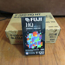 NEW 10 Pack FUJI HQ HT T-120 High Quality 6 Hour Blank VHS Tapes Sealed