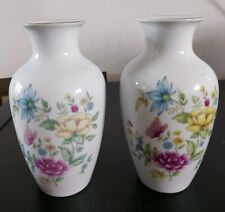 Pair of matching Floral vases