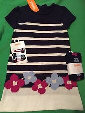 Gymboree Girl 3T Dress Tights And Hair Clips NWT