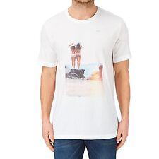 New Reef Men's Miss Reef Splash Zone T Shirt Short Sleeve Cotton White M Medium