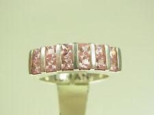Schöner Lumani Designer Ring 925 Sterlingsilber mit 12  rosa Kubik Zirkonia