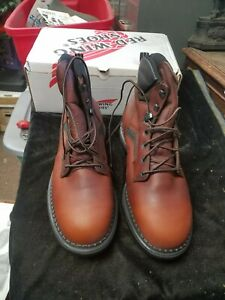 """RED WING Shoes Model 926 USA Made 6"""" Brown Leather Boots NIB New in Box 12 E2"""