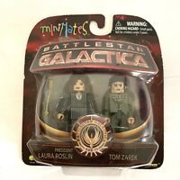 battlestar galactica minimates Laura Roslin And Tom Zarex Diamond Select New