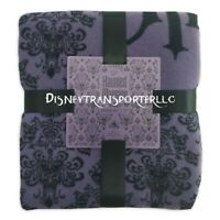 "Disney Parks Haunted Mansion Purple Wallpaper Blanket Throw 60x72"" Brand New"
