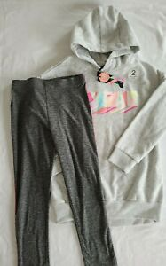 New Next Girls 6yr Active Wear Leggings Hoody Set With Tags
