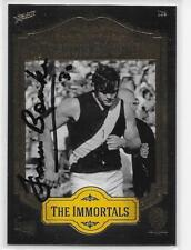 RICHMOND HALL OF FAME / THE IMMORTALS  CARD SIGNED BY FRANCIS BOURKE