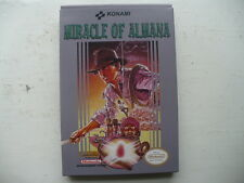 NTSC NES Miracle of Almana by Konami unreleased CIB game