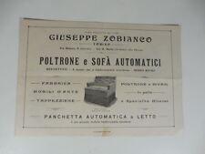 Giuseppe Zobianco, Torino. Poltrone e sofa' automatici brevettati. Pieghevole