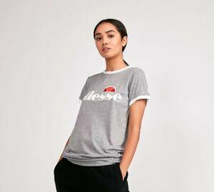Womens Ellesse Elneccio T-Shirt Grey Marl (PA1) RRP £21.99