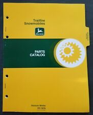 John Deere Trailfire Snowmobiles Dealer Parts Book Catalog - PC 1676