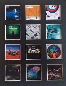 """MUSE DISCOGRAPHY 14"""" BY 11"""" LP COVERS PICTURE MOUNTED READY TO FRAME"""