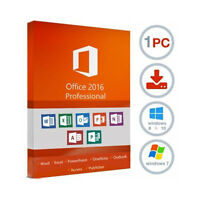 Microsoft Office 2016 5PC License ACCESS EXCEL WORD 365 OUTLOOK WINDOWS UK USA