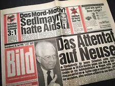 Bildzeitung BILD 28.07.1990 * zum 28. 29. 30. Geburtstag * Sedlmayr Aids