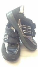 H - scarpe da ginnastica - n° 31 - colore nero - chiusura con velcro - USATE