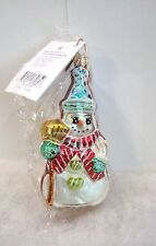 Radko Ornamento Cookie Cut Frosty #00-157-0 Snowman Nwt / Sellado (R31)