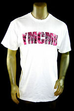 """NEW YMCMB YOUNG MONEY casual short Sleeve Tshirt """"ANIMAL MASH"""" white crew neck L"""