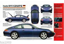 1997/1998 PORSCHE 911 Coupe SPEC Hoja/Catálogo/Catalog / Foto ' D