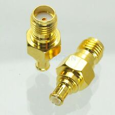 1pce Adapter SMA female jack to MCX male plug RF connector straight gold plating
