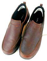 LL Bean Men's 13 Wide Comfort Mocs Slip on Shoes Brown Pebble Leather Light EUC