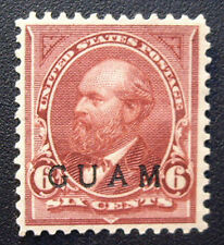 Mint 1899 Guam #6 Superb Near Perfect Centering MNG