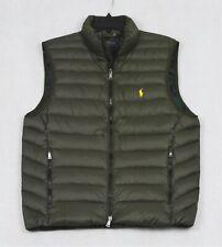 Polo Ralph Lauren Puffer Down Vest Packable Outerwear Olive Green XL NWT $188