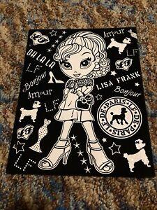 2004 Lisa Frank Velvet Fuzzy Pocket Folder Glamour Girl