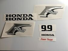 Honda 9.9 hp 4-Stroke Outboard Decal Kit - Brushed Aluminum Marine Vinyl set