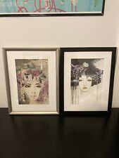 "IKEA Art Print 2 ""BILD"" Posters Framed Art 2 Approx 13x17 in. Love Who You Are"