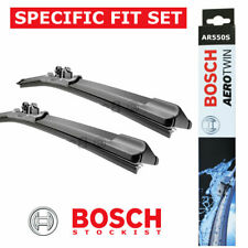BOSCH SET OF AEROTWIN WIPER BLADES AR550S NEW GENUINE