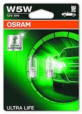 OSRAM W5W 12V 5W W2,1X9,5D ULTRA LIFE 2825ULT 2 Stück ++EINFÜHRUNGSPREIS++