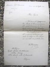 K294-AUTOGRAFO GUIDO BACCELLI MINISTRO ISTRUZIONE 1890 ROMA