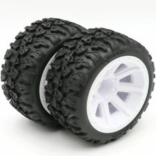 2pcs Kyosho 1/10 4WD Buggy Tires tyres 100mm & Hex 12mm Wheel rims Pre-glued