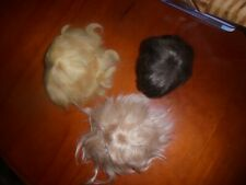 Antique doll wigs x 6, 2 mohair, 1 human hair, 3 others