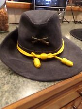 "civil war Union Federal Used Cavalry Hat Yellow Braid 21"" Circumference"