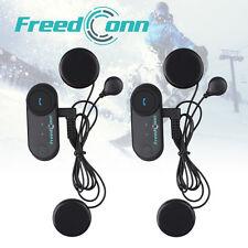 BT 800M Intercom Motorcycle Helmet Bluetooth Interphone Soft Flexable Headset+FM