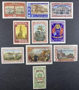Stamp Vault - RUSSIA SC# 1700-1709 MNH Set + ERROR (Mi # 1702-1709 + 1722-1723)