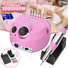 30000rpm Electric Nail Art Drill File Manicure Pedicure Machine Bits 6 Tool AU