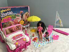 Vintage Barbie Playset Beach Blast ARCO Beach Party with Box Jeep HTF Extras